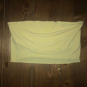 Pacsun Basics Yellow Tube Top